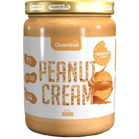 Quamtrax Peanut & Biscuit Cream - Crema de Cacahuete y Galleta 350 gr