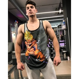 MR GYM CAMISETA GOKU GRAY