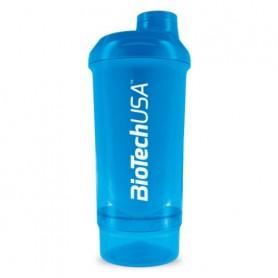 BioTechUSA Wave+ Shaker 500ml + 150 ml Azul