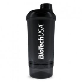 BioTechUSA Wave+ Shaker 500ml + 150 ml Negro