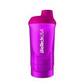 BioTechUSA Wave+ Shaker 500ml + 150 ml Rosa